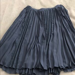 Periwinkle blue pleated lace skirt